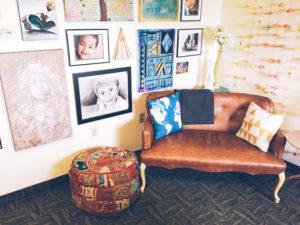 Charith Denson's artful office in Phoenix, AZ.