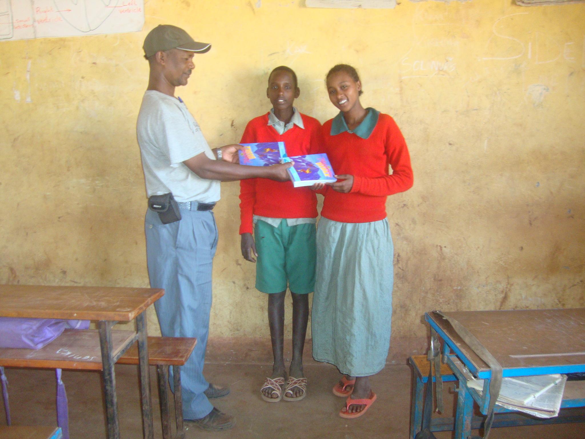 Staff member Wario, Lkisomai and Sabade