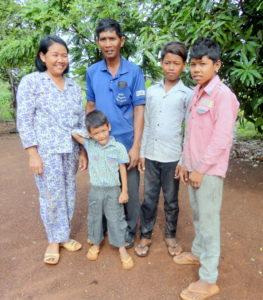 Mrs. Phoeun and her family
