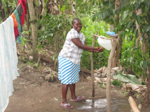 Cherilia Aneus is a 35-year-old mother of 4 and a beneficiary of the DFID project in Plato Bonga. Her family learned about hygiene and sanitation and how to build a latrine. Now her family is more healthy.