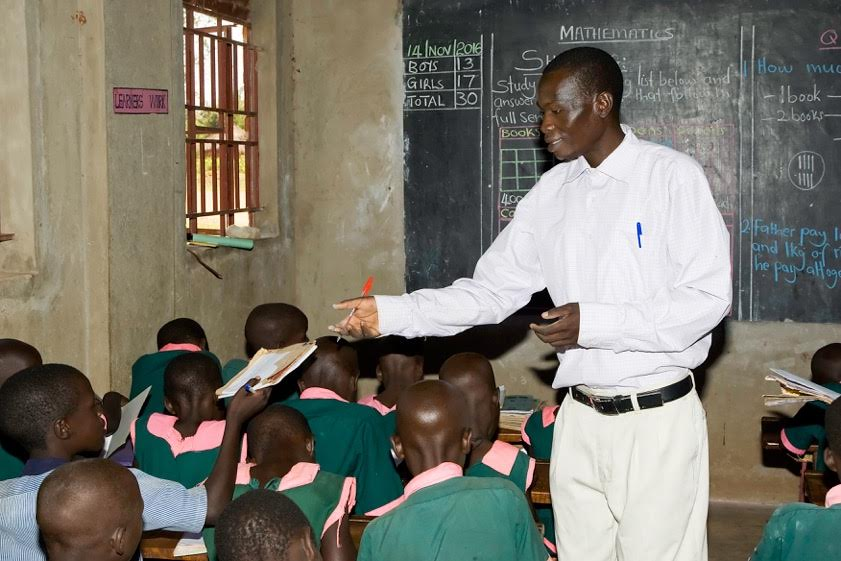 For sponsored child gives back as a teacher in his Uganda community