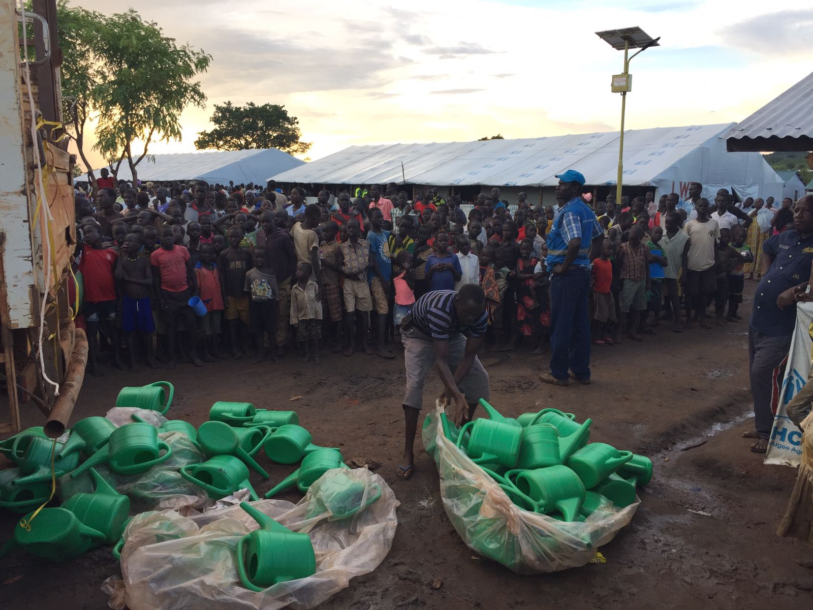 Famine in South Sudan has sent refugees to Uganda.
