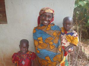 Marie and her daughers in Burundi