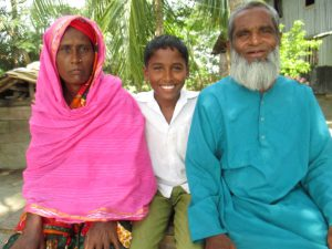 Mehedi and his family in Bangladesh