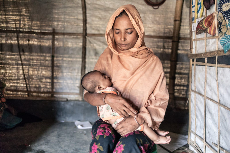 Gul Mejer is a wife and mother of 6 children whose family fled Myanmar when their village was burned. She now lives in the Balukhali refugee camp in Cox's Bazar.