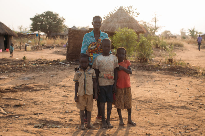 Rose (middle) is a mother who fled with her family to Uganda while pregnant, when her family was killed in South Sudan.