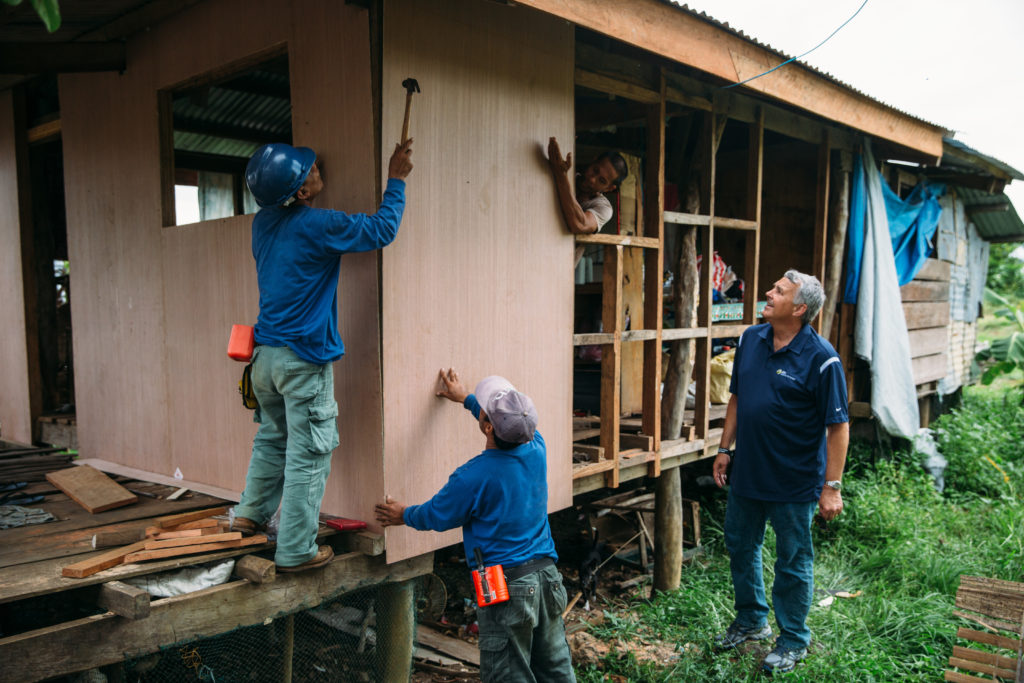 President Gary Edmonds in Philippines as residents work to rebuild after Typhoon Haiyan using sustainable solutions.
