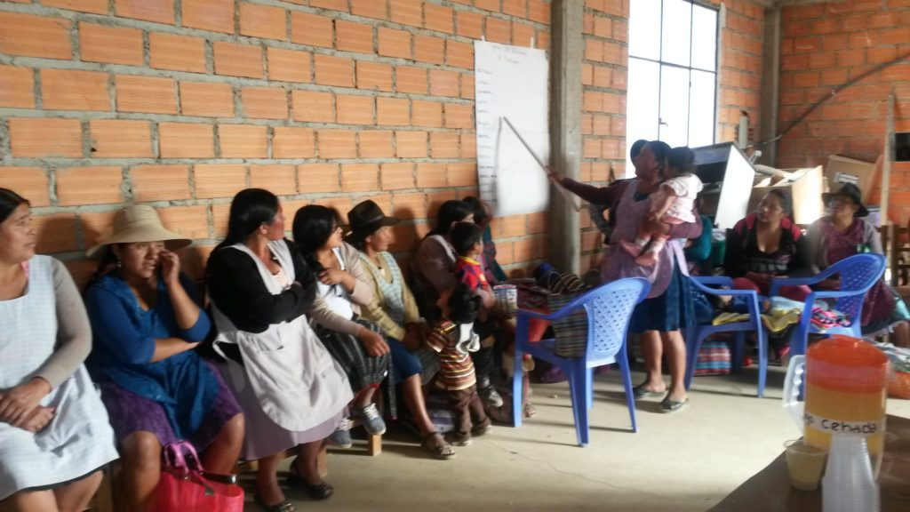 Sixta trains her Bolivian neighbors to care for their children's nutritional needs, as a volunteer mother in Food for the Hungry's programs