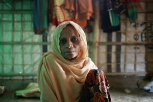 The story of Guljar Ktlahu, a 65 year-old woman who is a Rohingya refugee living in Camp 5, EE-5 block. This is the story of how she and her family fled from Myanmar and now live in the Kutupalong camp, where she now describes the flood rains and their impact on her family's living conditions.
