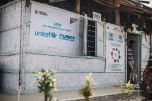 A health clinic run by Food for the Hungry in a Rohingya refugee camp in Bangladesh