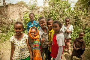 A Group of Children in Ethiopia Smiling