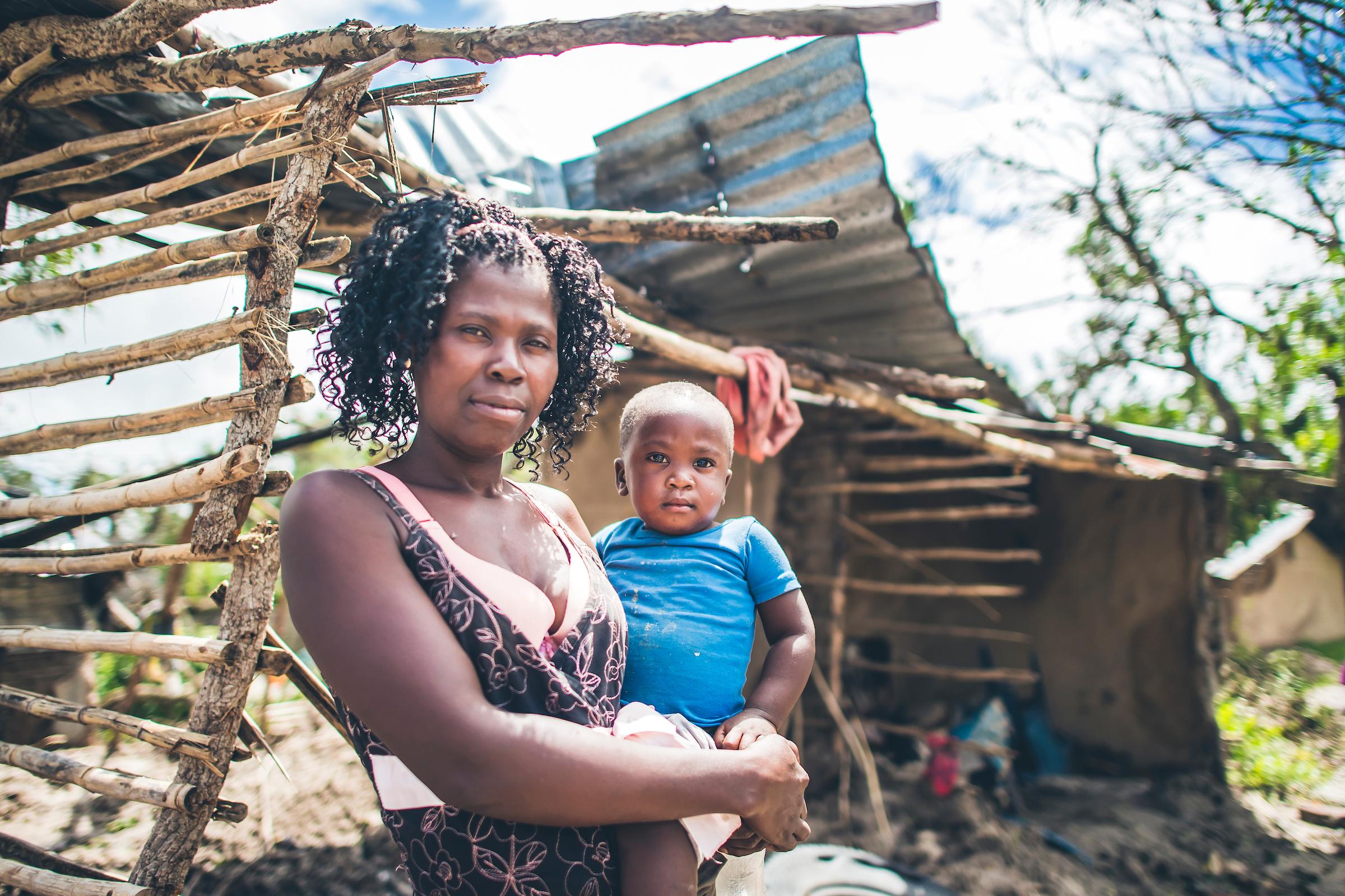 Cyclone Idai survivor in Mozambique