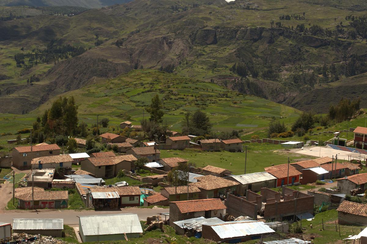 Photo de paysage de Huancavelica au Pérou dans les Andes sierra