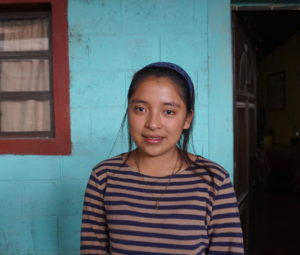 Evelyn is a student in Guatemala who received education support from FH