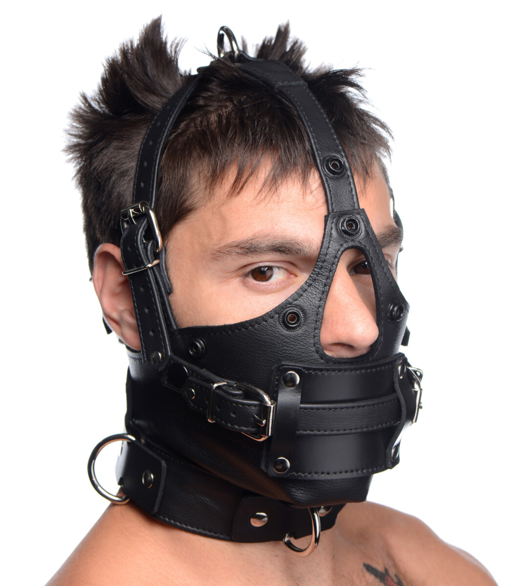 Leather Head Harness with Removeable Gag - P4aZoJDL 4b6084e5 scaled
