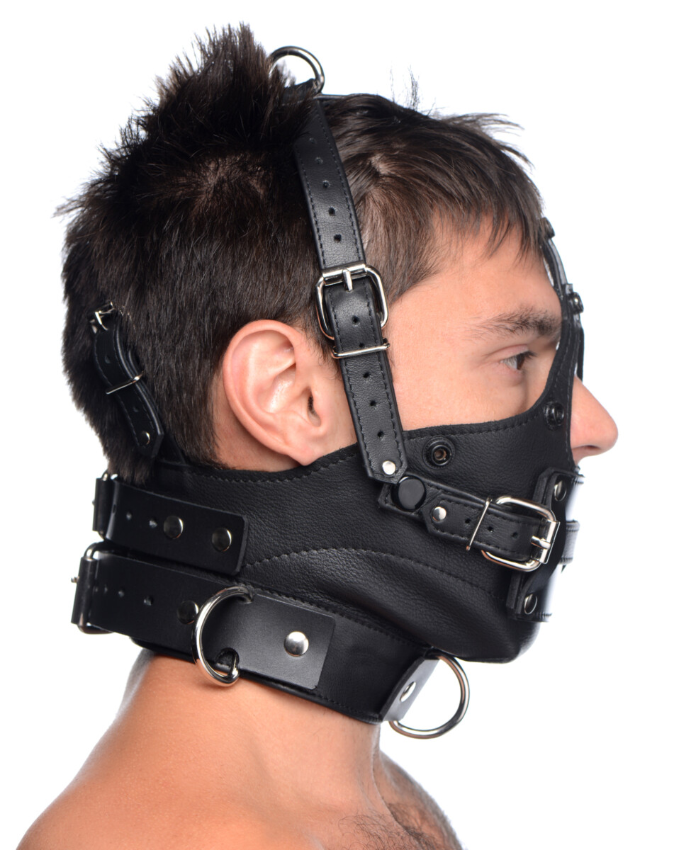 Leather Head Harness with Removeable Gag - dCaWAmA4 e52ecbec scaled