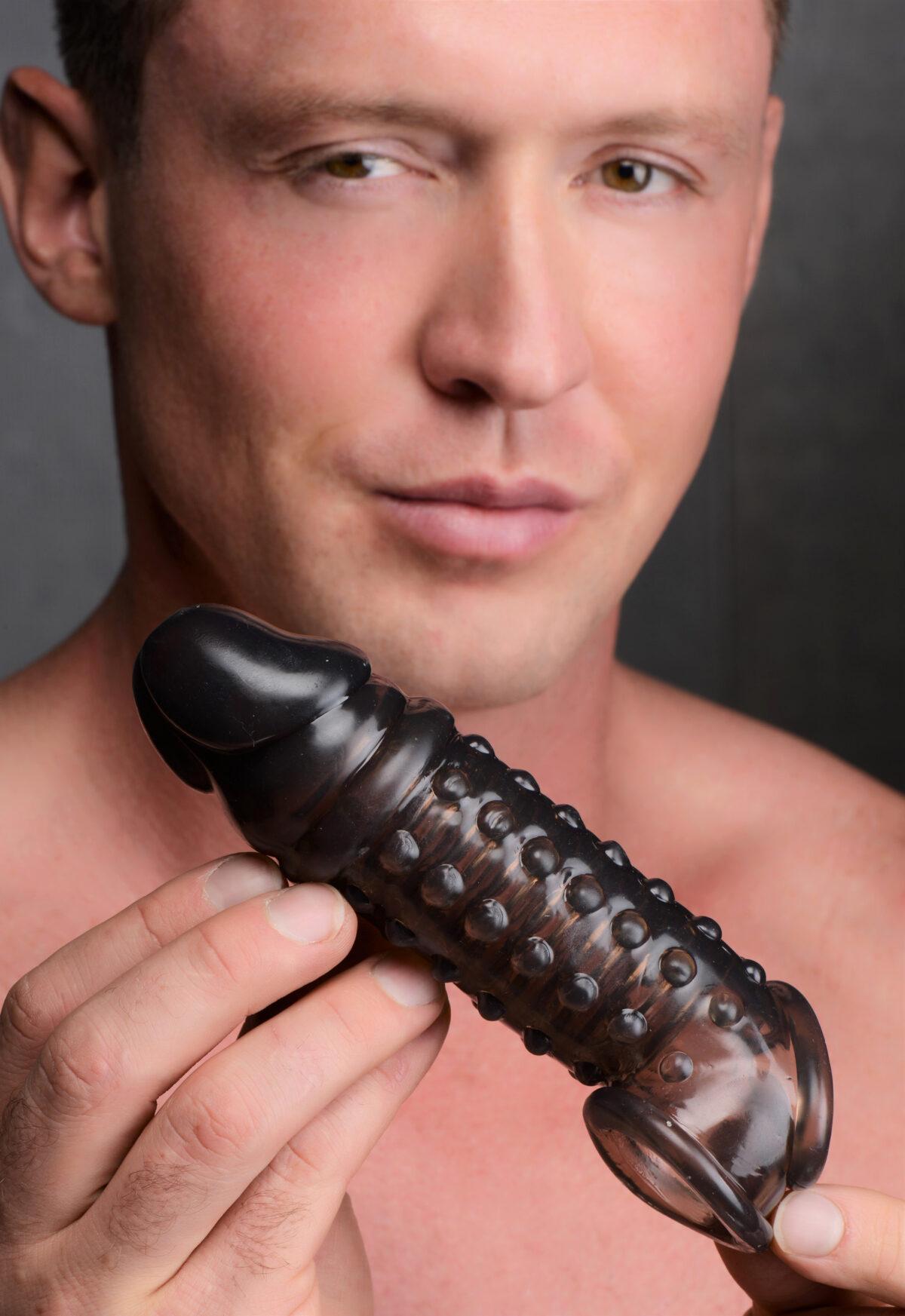 1.5 Inch Penis Enhancer Sleeve - Smoke - c3e83cba