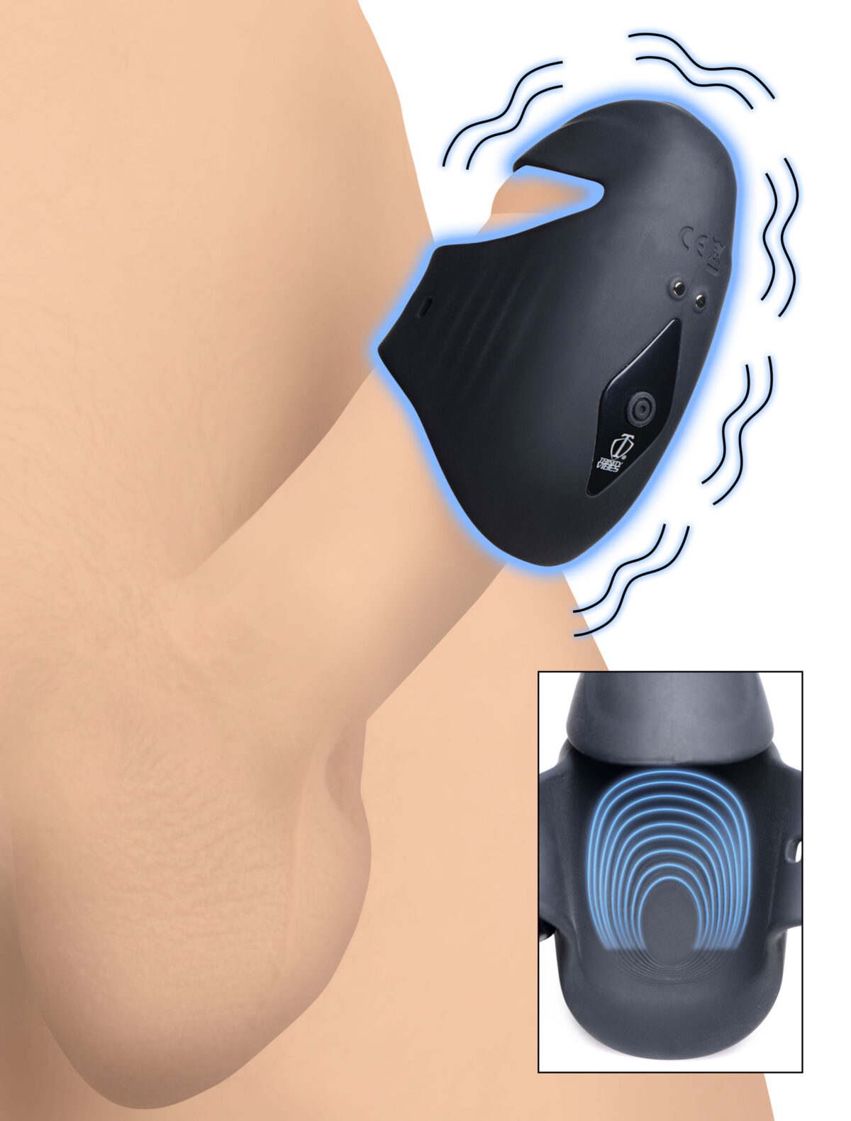 8X Vibrating Silicone Penis Head Stimulator - 863d7479