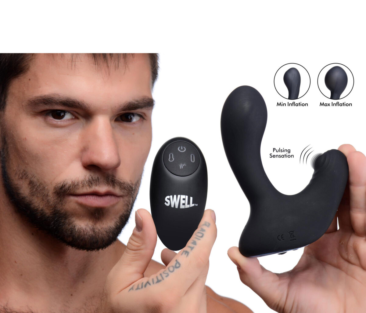 10X Inflatable and Tapping Silicone Prostate Vibrator - bffce1bc