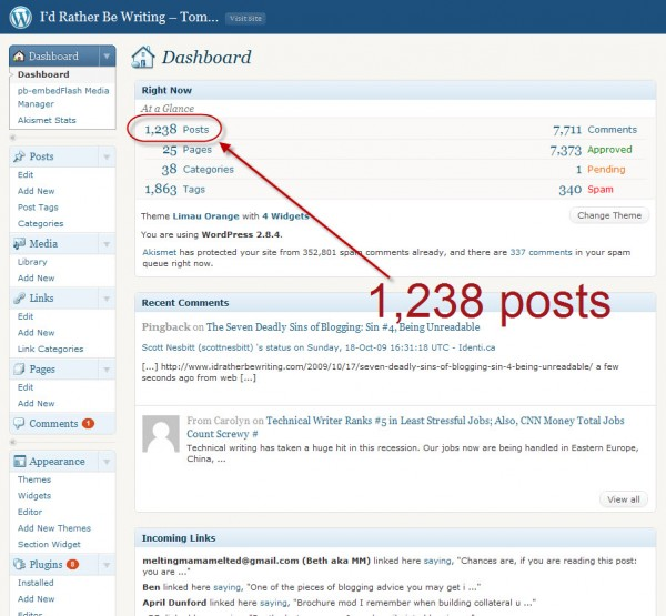 How do you make the hundreds of posts you've written findable after they slide off the home page??