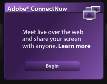 Adobe Connect Now -- free screen sharing software for up to three people