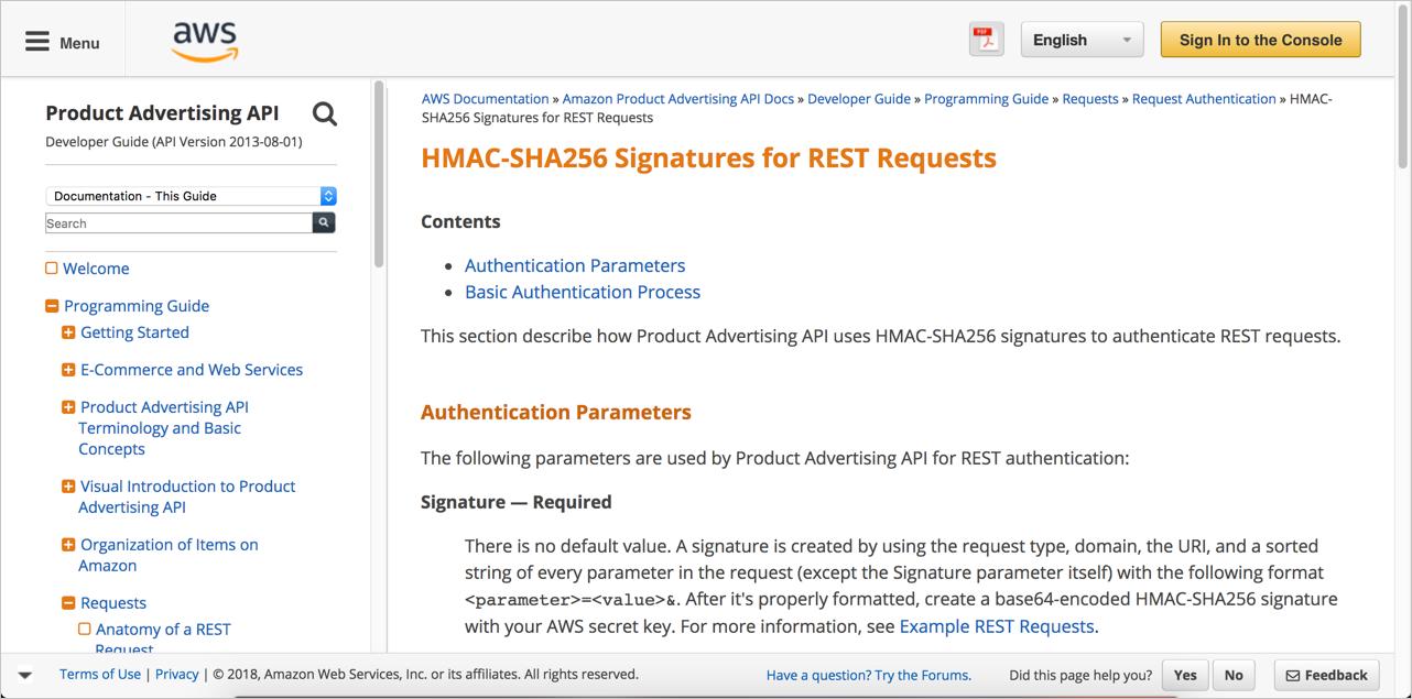 Amazon authorization