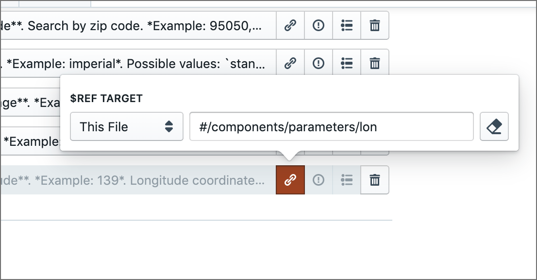 Selecting references from components