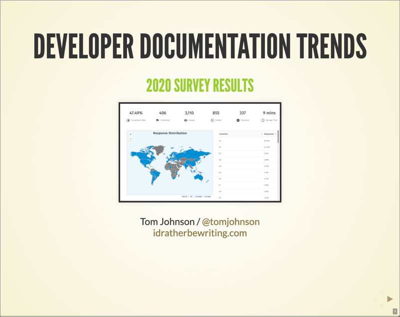 Developer Documentation Survey Results