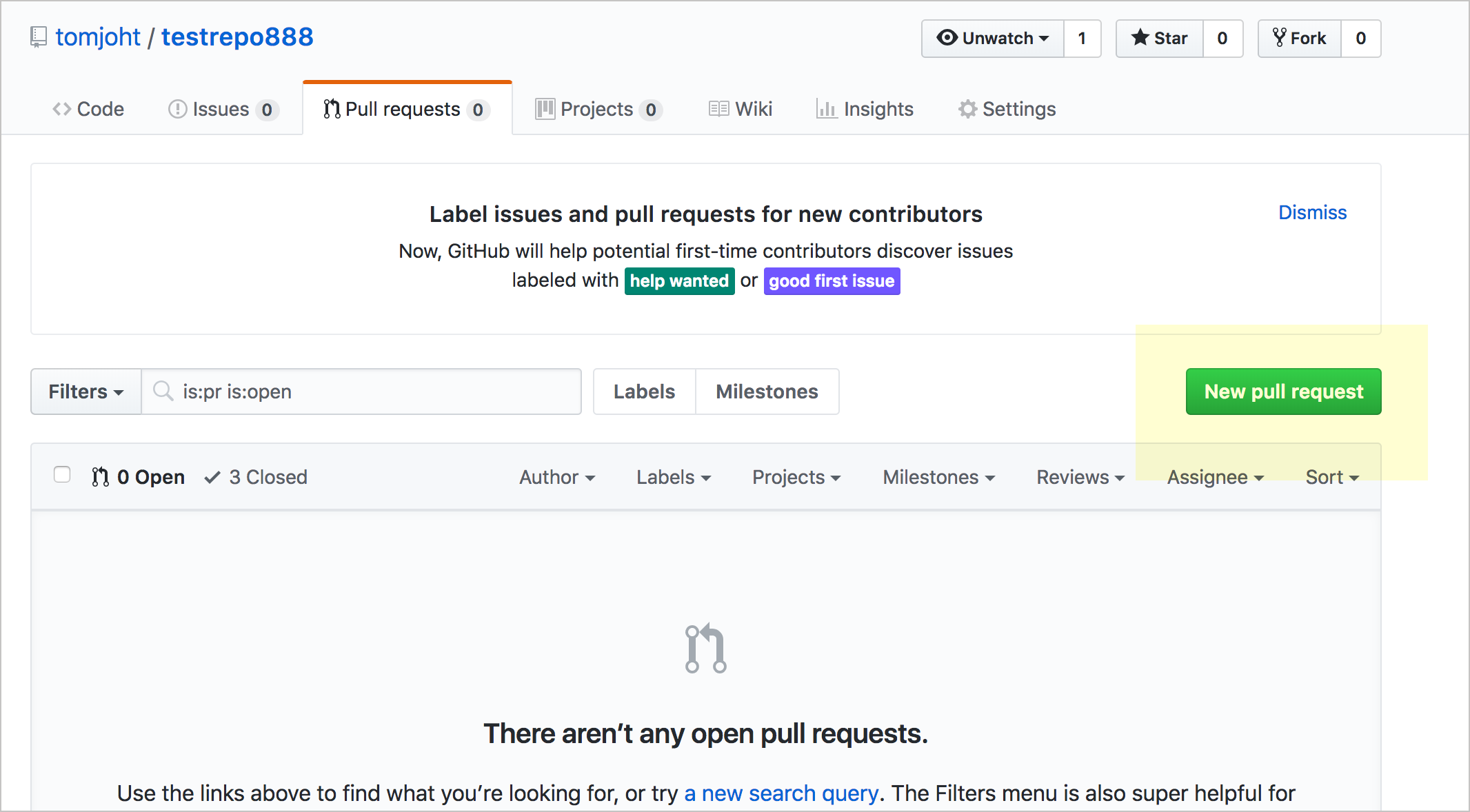 New Pull Request