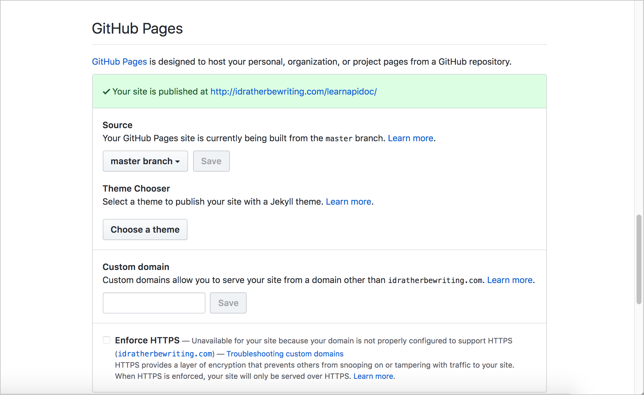 GitHub Pages integration with GitHub repositories