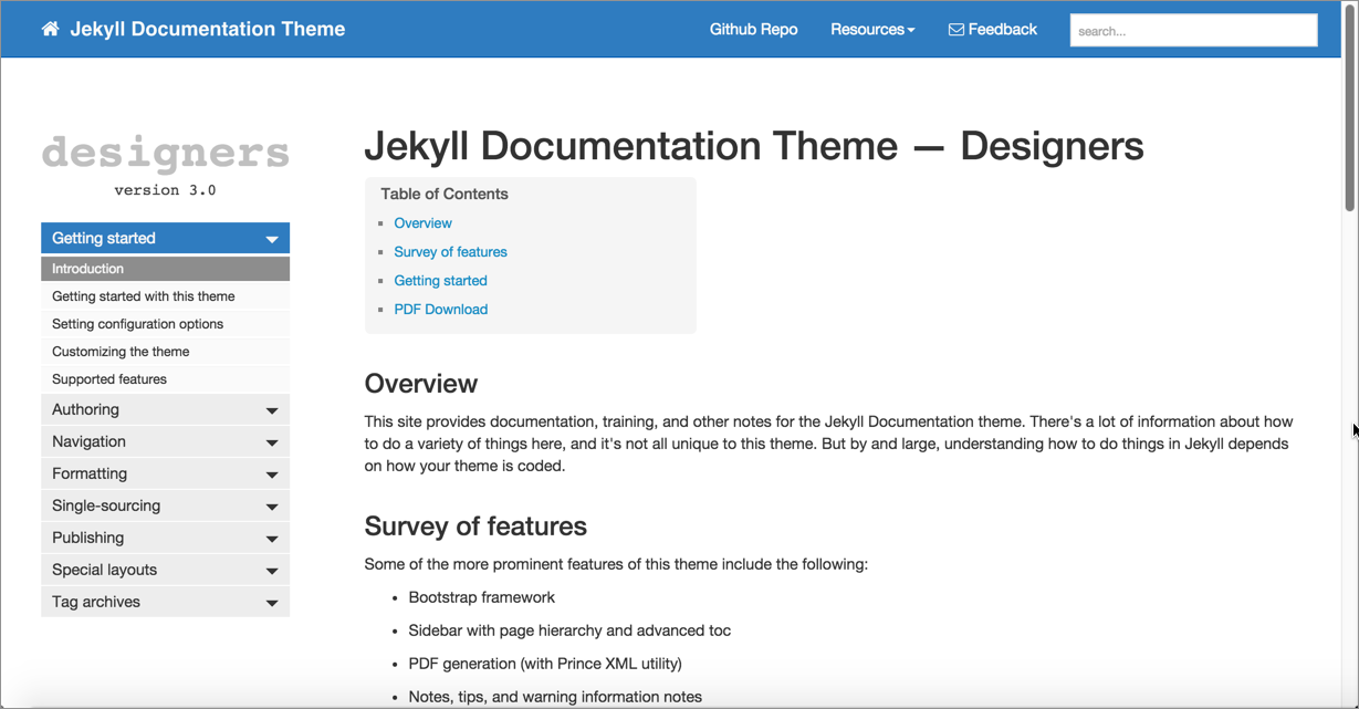 My Jekyll Documentation theme