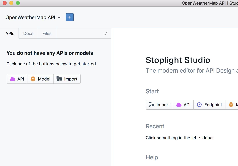 Creating a new API file