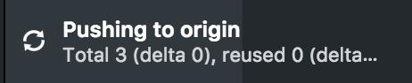 Pushing to origin