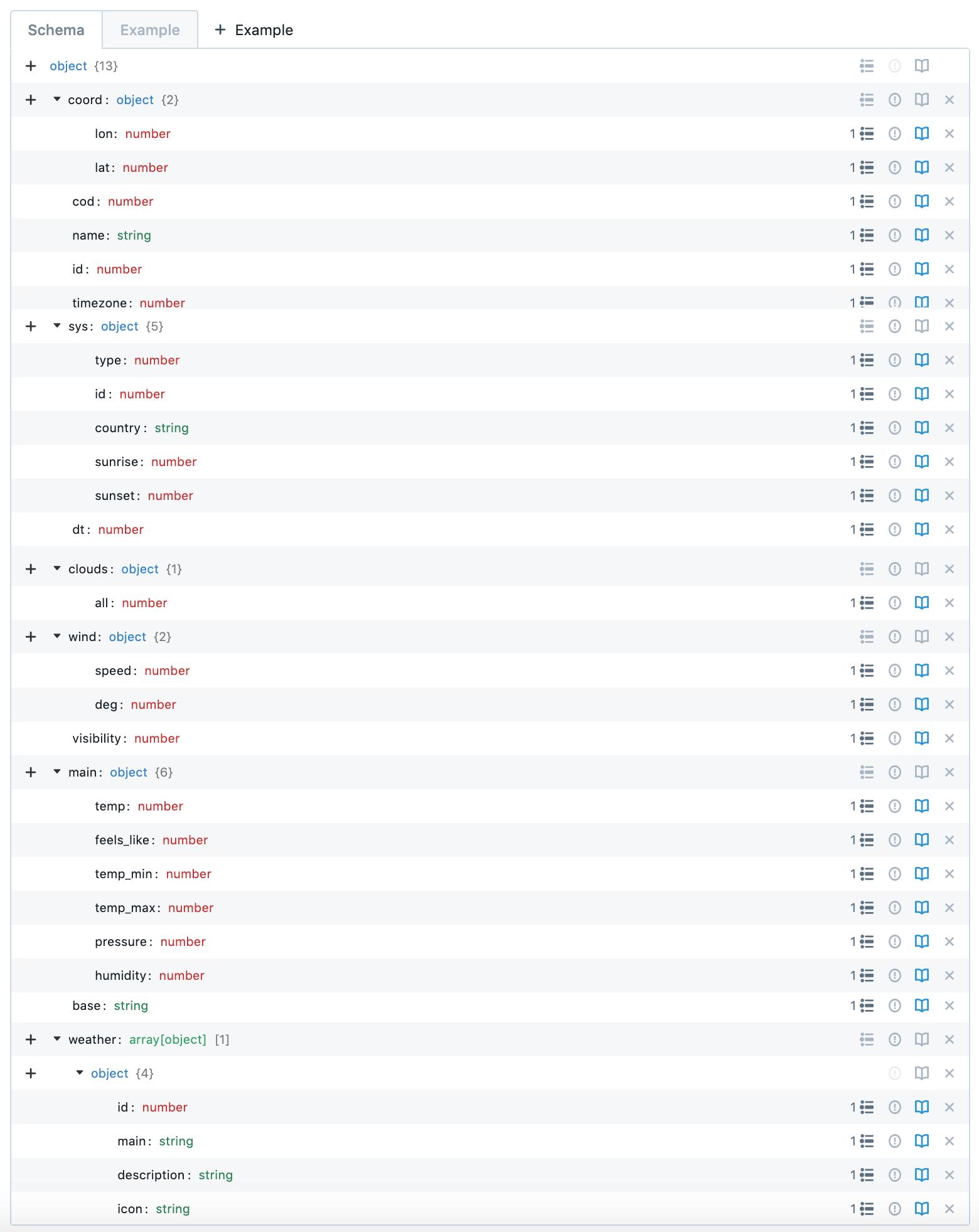 Schema object editor