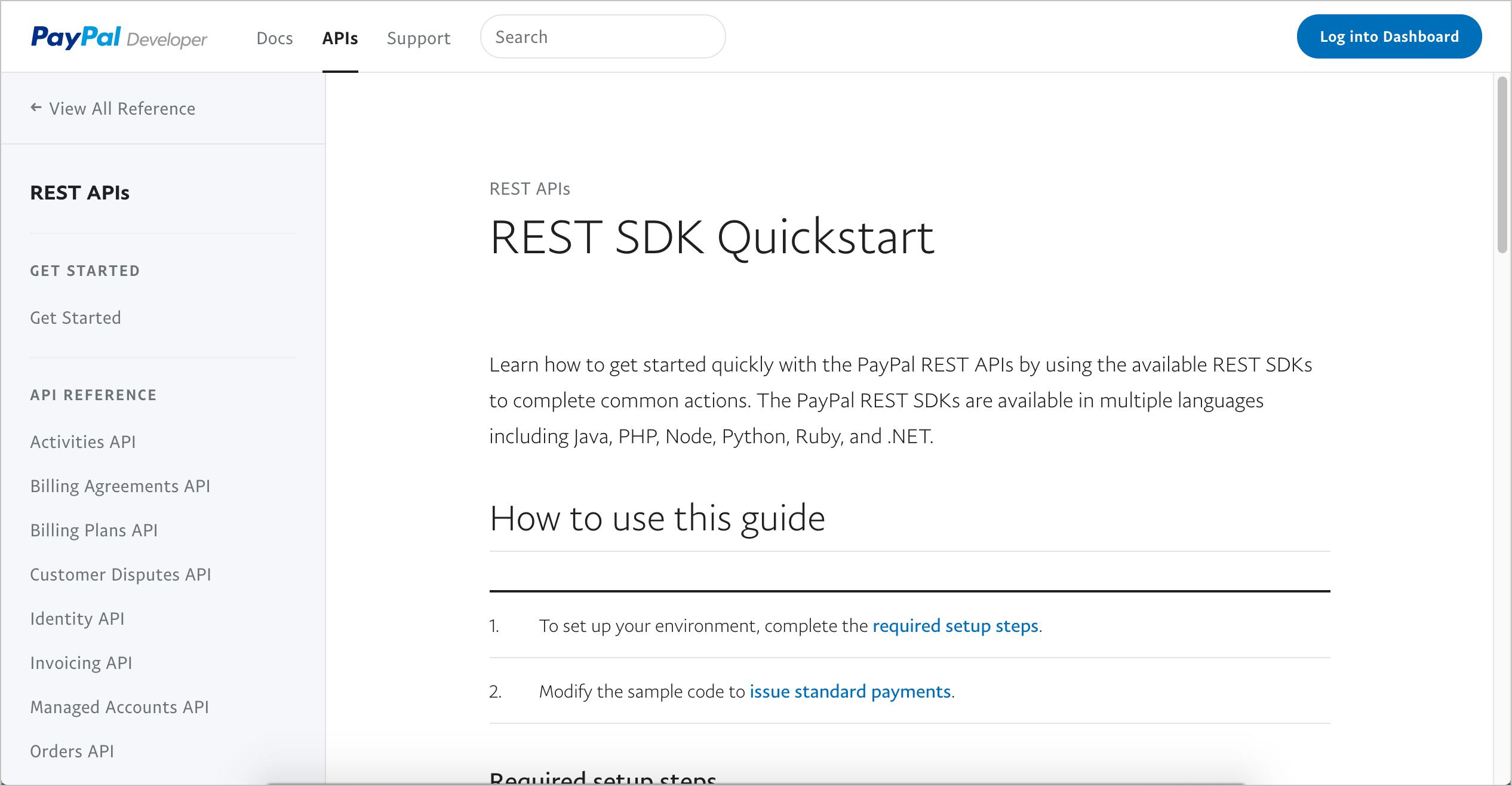 Paypal REST SDKs