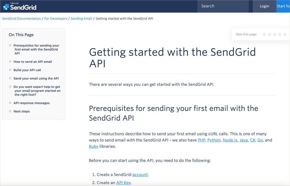 SendGrid getting started tutorial