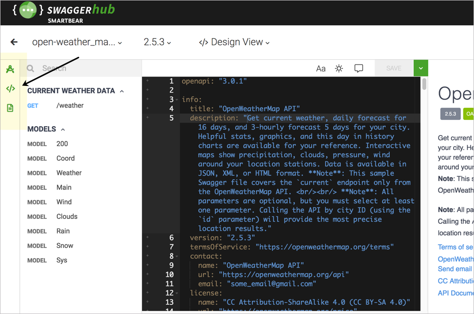 SwaggerHub's editor gives you more flexible viewing options