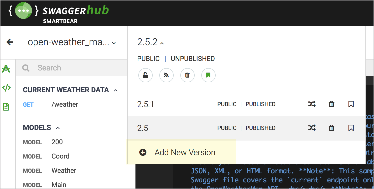 Versioning options for your OpenAPI file