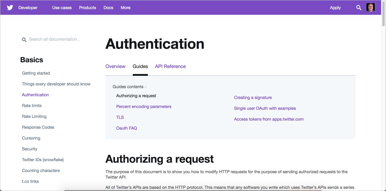 Twitter authorization
