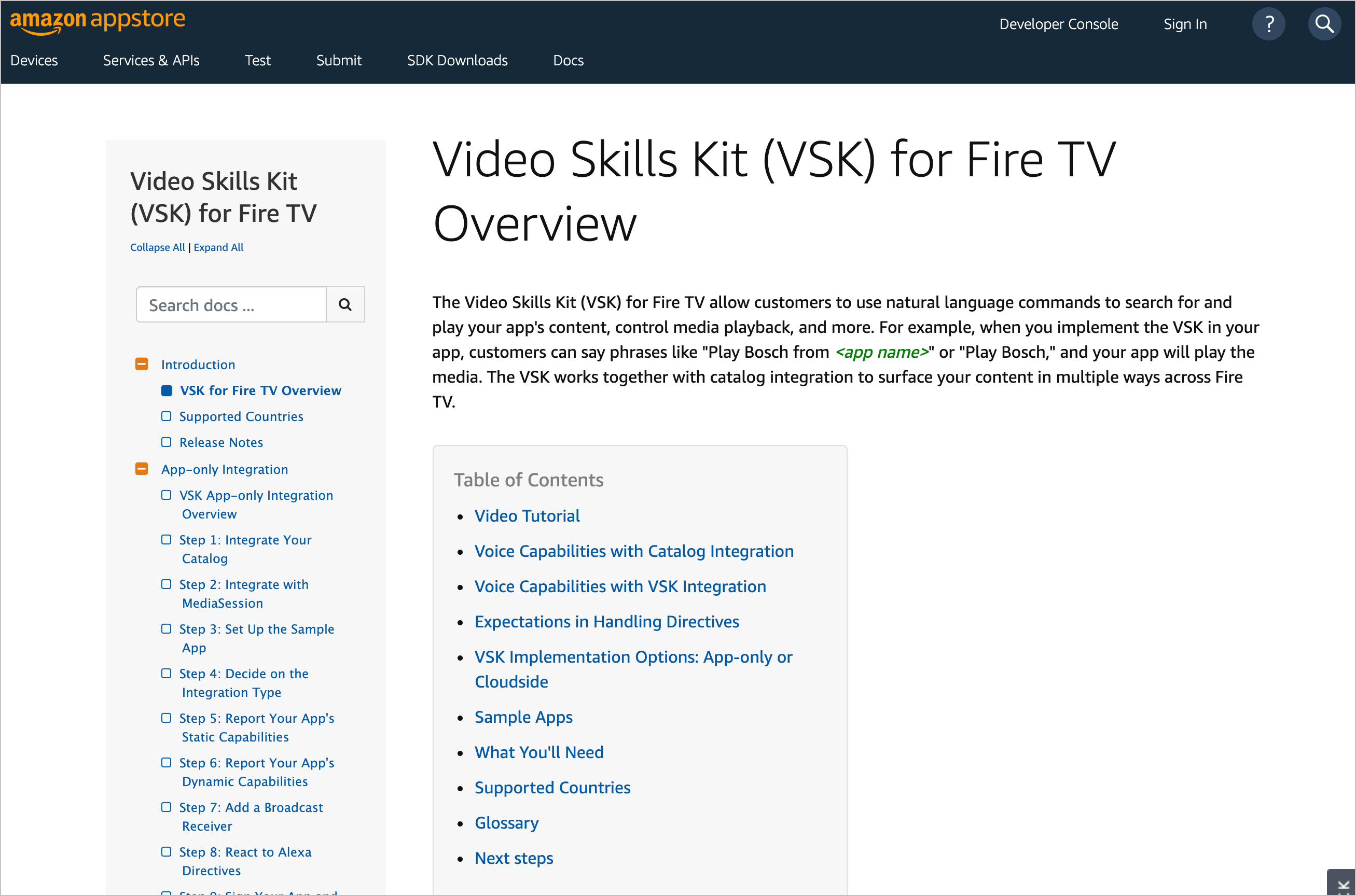 VSK for Fire TV