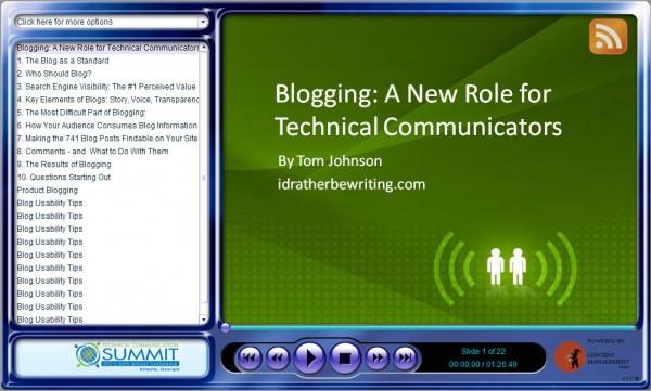 My blogging presentation at STC Atlanta