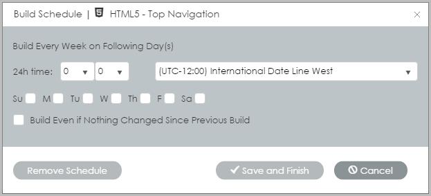 Build schedules