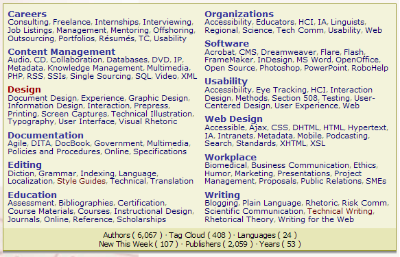 Categories in the TC e-server Library