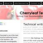 Cherryleaf -- Thoughts on Technical Writing in the Cloud