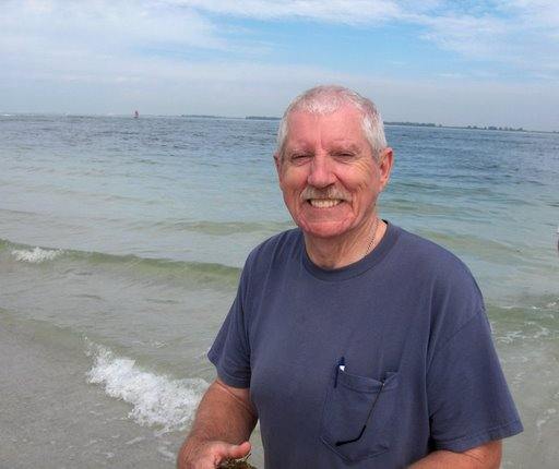 My dad at the beach
