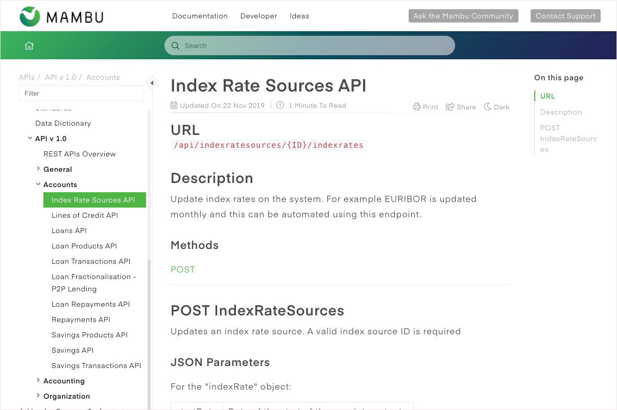 Mambu API integration