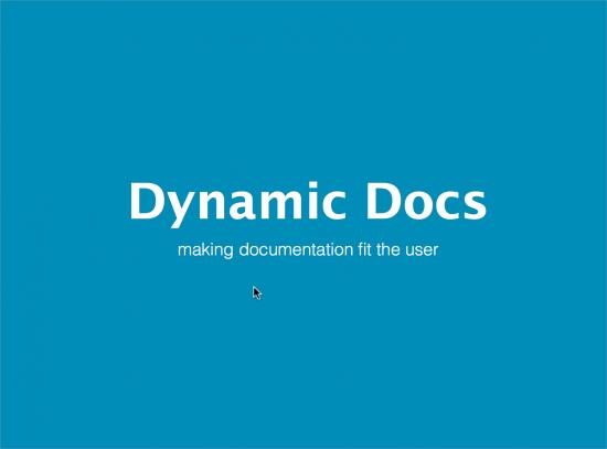 Dynamic docs