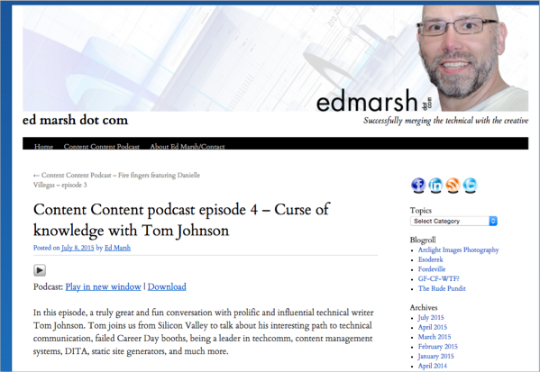 Content Content podcast with Ed Marsh and me