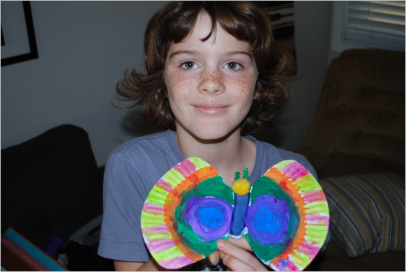 We had a lot better success in making butterfly crafts instead of spider crafts.