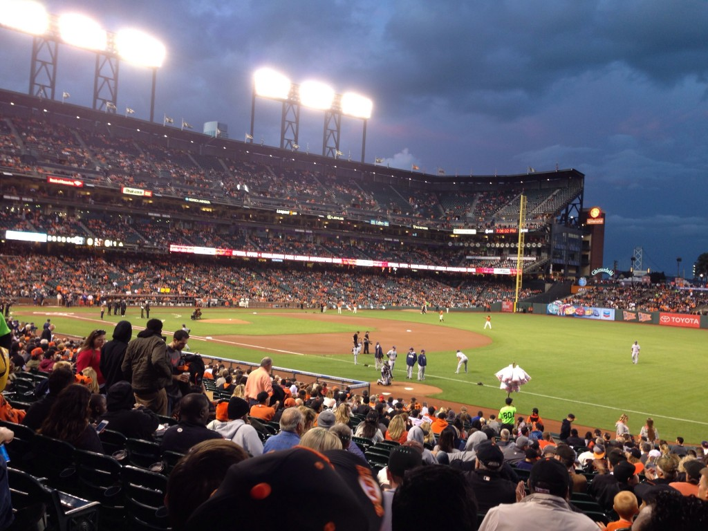 Our work took us out to a San Francisco Giants game. Fun event, but boring game. We left by the 6th inning. The ride into the city took forever. 1 hour getting there, 1.5 getting back. But good discussions with colleagues.